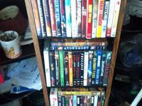 Dvd's $2 each or all 41 for $65   The DVD rack will be