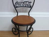 This mini metal chair from Coca Cola makes a great
