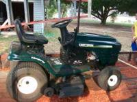 "42"" cut, 19.5 hp, briggs and straton, new battery, runs"