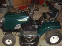 "42"" craftsman riding lawnmower. 15.5 hp. good"