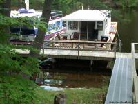 35 ft Crest houseboat, expanded front and rear decks to