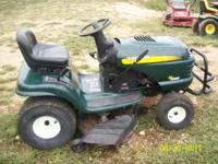 This mower has a 18.5hp OHV Briggs and Stratton motor