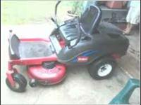Do u need a real good 42 inch zero turn mower well i