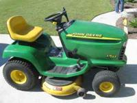 "I have a 42"" John Deere riding lawn mower that have"