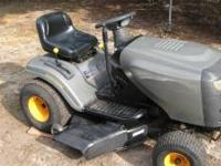 "42"" cut Automatic riding mower Newer - This mower is"