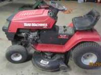 This mower has a 15.5hp OHV Briggs and Stratton motor