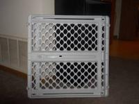 I have for sale a plastic baby gate that was bought in