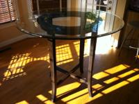 "42"" Round Tile Pattern Table Set with 3-44"" curved top"