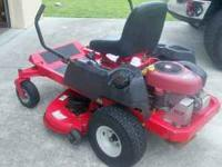 "42"" zero turn, 19HP Briggs+Stratton, 125 hrs... great"