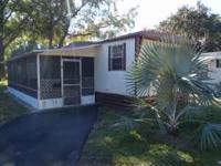 2Br/1Ba with screened in patio. nice mobile home