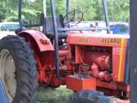 Belarus 420A 4wd tractor, with equipment, three row