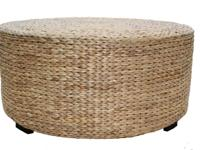 This beautiful seagrass coffee table includes the