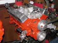 Here I have a 350 Chevy small block bored 0.40 over