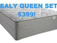 CRAIGSLIST SPECIAL! $399 SEALY PLUSH TOP QUEEN SET!