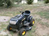 """i have like new 7 speed riding lawn mower with a 42"""""""