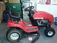 "42"" YARD MACHINE RIDING LAWN MOWER 2YRS OLD COMES WITH"