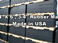 IN STOCK ... ... 4 X 6 X 3/4 RUBBER MATS.  Concerned