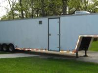 1996 43' Pace American Gooseneck Trailer 8' wide 8'