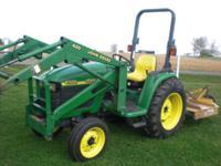 4300 John Deere Compact Utility Tractor, 33HP Diesel,
