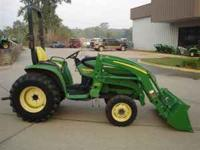 2001 33HP 4WD TRACTOR WITH LOADER 1100 HOURS ON TRACTOR