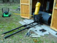 44 inch 2 stage snow blower and attaching brackets for