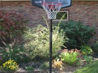 44 In. Impact Telescoping Pro Court Portable Basketball