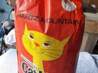 "44 year old bag of kitty litter ""Hartz Mountain"""