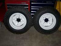 Two 8/16 Tires and Rims for a 440 Case Lawn Tractor,