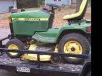 445 John Deere Lawn Tractor- 22hp engine, fresh