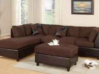 BRAND NEW MICORIFBER SECTIONAL SOFA & OTTOMAN LIMITED