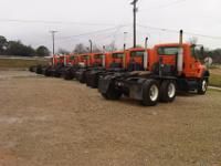 2005 I-H 7600 tandem axle tractors. Mileages range from