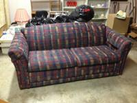 Nice couch, very comfy. Multi-color with blue,
