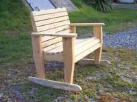 Handmade Wood YOUTH LOVE SEAT / Rocker, Just like the