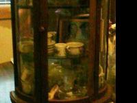 For sale is a really cute little curio cabinet that