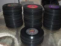 I HAVE ABOUT 340 45 RPM RECORDS AVAILABLE. THEY ARE