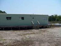 OFFICE TRAILER 12 FT X 55 FT W/ AC AND STORAGE YARD