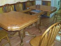 We have to sell are beautiful oak dining table and 8