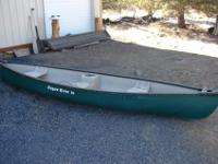 I'm selling my 14ft Rogue River canoe. Wider design