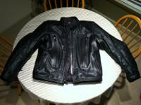Brand new! Values at $695. Waterproof, leather jacket