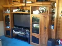 Selling a 3 piece tower entertainment center with