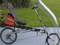 RECUMBENT BIKE E W/FAIRING - $450 21 SPEED BIKE E, NO
