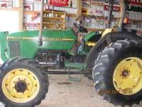 45 hp John Deere model 5200 4x4 utility tractor with