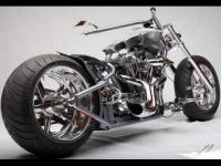 2009 Custom chopper, 450 miles, Has crane high 4