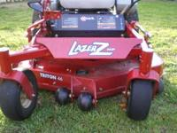 This is a like new Exmark Lazer Z with only 81 hours on