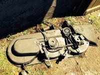 46 in cut riding lawn mower deck - $150 The deck came