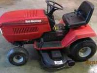 This mower has a 17hp Techumseh motor with a hydrostat