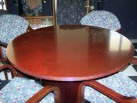 "46"" Round Cherry finish Table with round base"