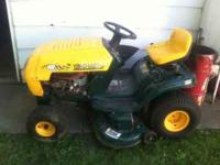 "Used 46"" deck asking 750 obo. Runs great good"