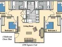 1 Bedroom available in a 4 Bedroom Apartment: