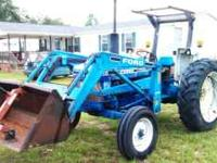 Approximately 1988 Ford 4610, front end loader, new
